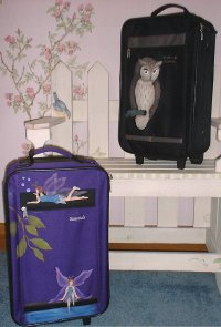 Stenciled Luggage
