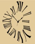 Melting clock stencil