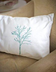 stencil pillow makeover