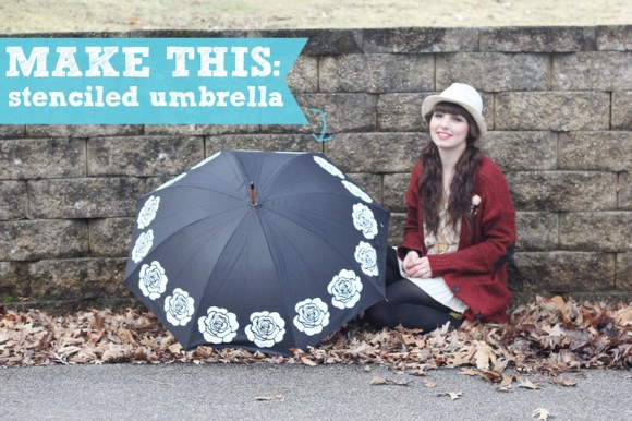 Stenciled Umbrella