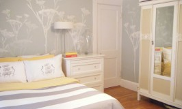 Field of Fennel Stenciled Bedroom