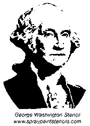 Presidents Day Freezer Paper Stenciling