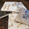 Stenciled Gifts: Tile Coasters