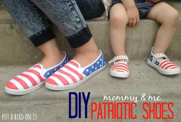 Pretty Providence: DIY Patriotic American Flag Shoes