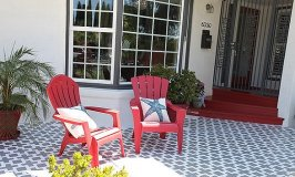 More Stenciled Patios