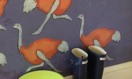 Carol's Ostriches on Parade Entryway