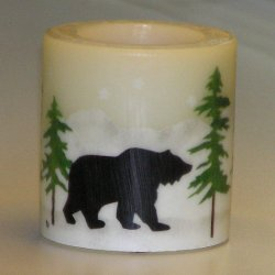 Stenciled Candle