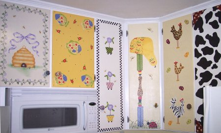 Stenciled Cabinets