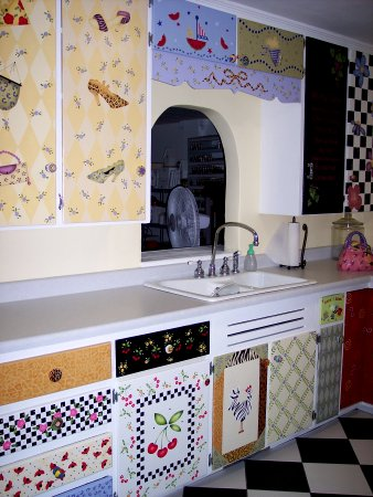 Stenciled Kitchen Cabinets Stencil Search