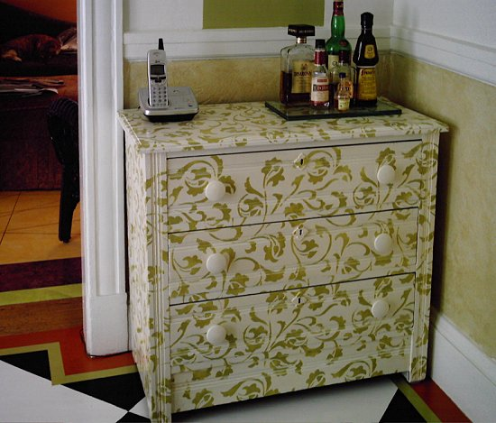 Stenciling Furniture