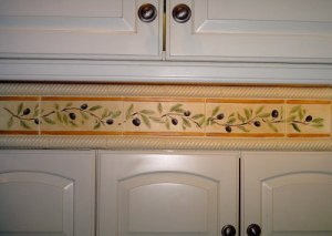 Tile makeover by Carol Leonesio, Paint It! (After)