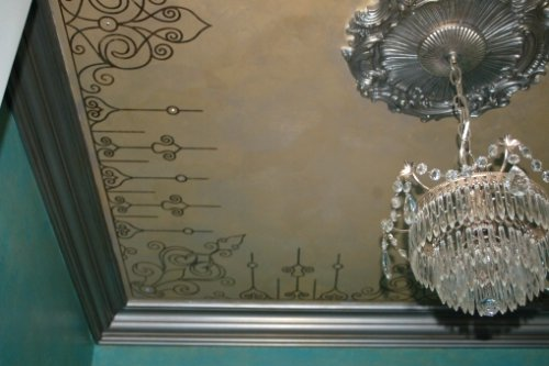 Embellished Stenciling: Ceilings