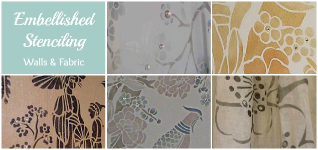 Embellished Stenciling: Walls & Fabric