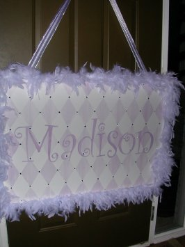 Stenciled Name: Madison