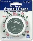 Plaid Dry Brush Stencil Paint