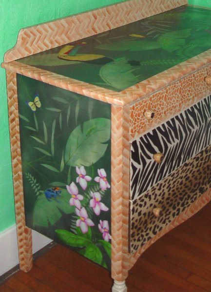 tropical painted furniture. Delighful Furniture Tropical Dresser Intended Painted Furniture U
