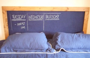 More Painted Headboards: Chalkboard Headboard via Apartment Therapy