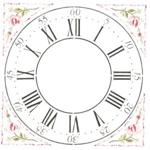 Designer Stencils Cross Hall Clockface