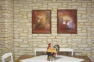 Faux Stone wall by Sue Thompson