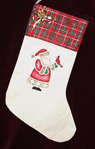 Stenciled Christmas Stocking