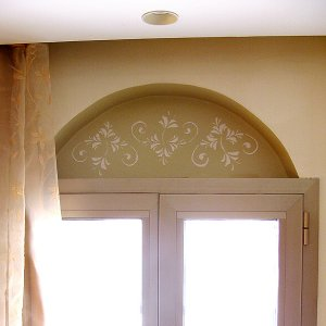 Arched Niche with Dimensional Stenciling