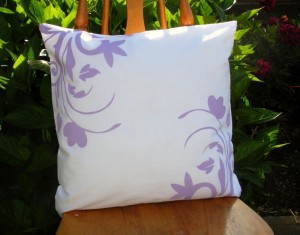 Floral Stenciled Pillow