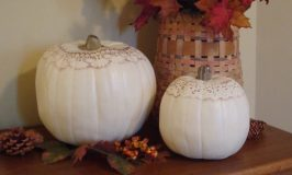 More Stenciled Pumpkins for Fall