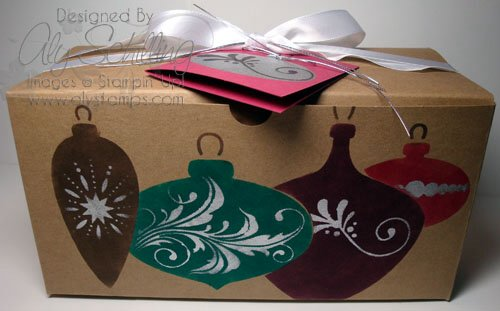 Stenciled Gift Wrap