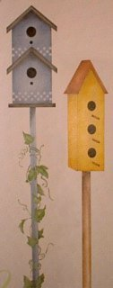 Stenciled Birdhouses