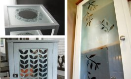 Stenciling with Frosted Glass Spray
