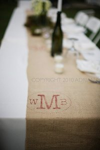 Stenciled Burlap: Table Runners & Placemats