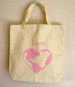 Earthly Love Stenciled Tote