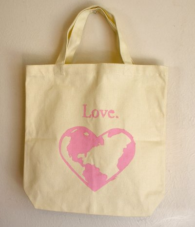 Stenciled Tote for Earth Day