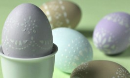 Lace Stenciled Eggs for Easter