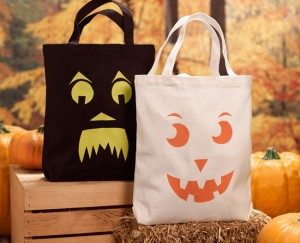 Stenciled Halloween Totes