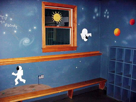 Whimsical Walls Outer Space Bedroom
