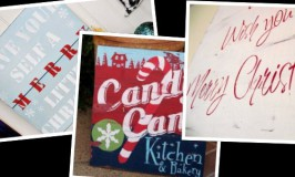 Stenciled Christmas Signs