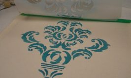 Damask Stenciled Pillow Tutorial