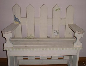 Fairy Bedroom: Painted Bench