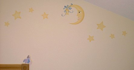 stenciled lullaby moon