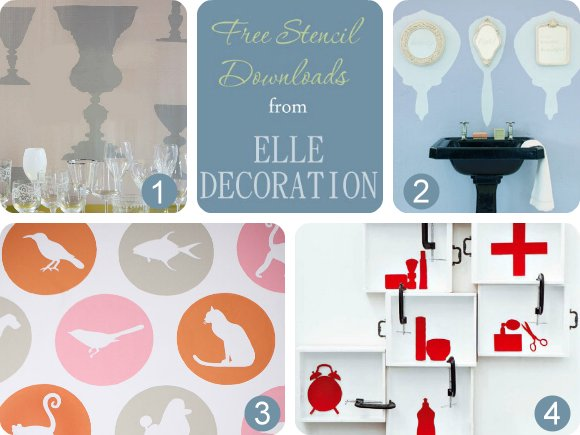 Free Stencil Downloads from ELLE Decoration