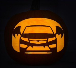 Chevy batmobile pumpkin stencil