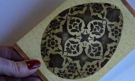 Stenciled Egg Card