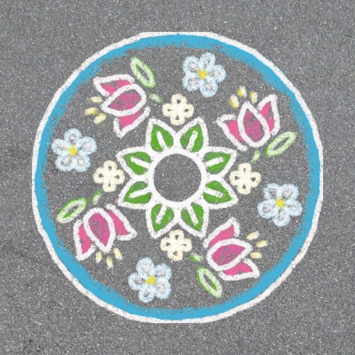 Summer Fun: Stenciled Sidewalk Mandalas