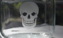 Etched Skull Jar at Itsy Bits and Pieces