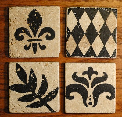 Hey, Let's Rock: DIY Custom Tile Coasters