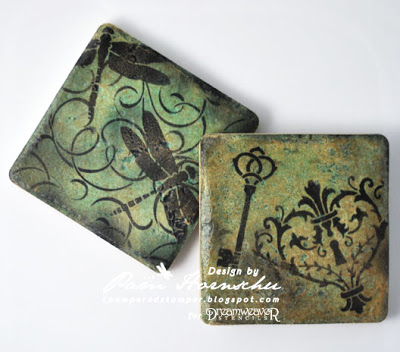 The Pampered Stamper: Ceramic Coasters with Dreamweaver Stencils