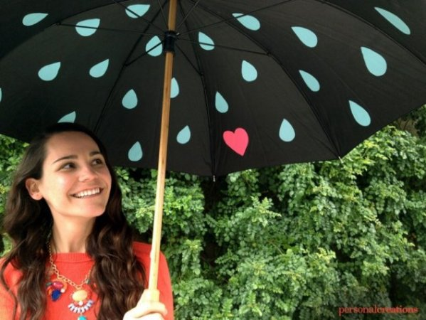 Personal Creations: April Showers Painted Umbrella