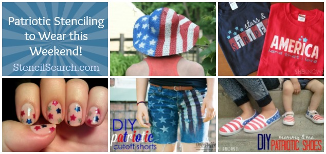 Patriotic Stenciling to Wear This Weekend