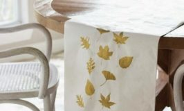 4 Autumn-Stenciled Table Runners